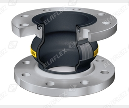 Section view ERV-G Rubber Expansion Joint